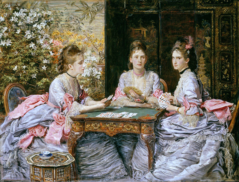Hearts are trumps (par John Everett Millais)