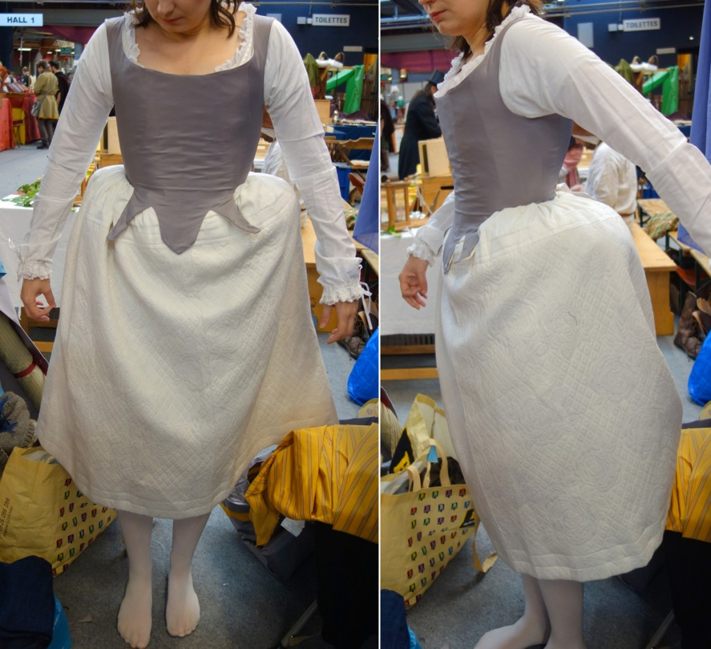 Habillage 18th _ 3 petticoat