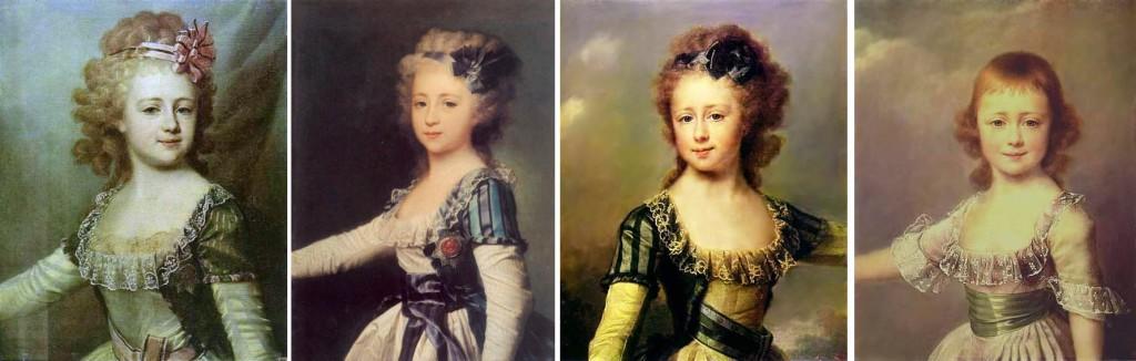 02_ 1790-91 Levitsky, Alex, Elena, Maria, Elatérina