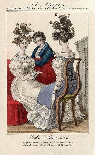 Coiffure vers 1825