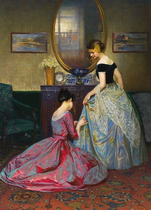 The Fitting, Viktor Schramm (1900)